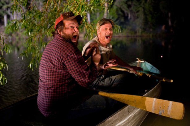 "Tyler Labine is Dale and Alan Tudyk is Tucker in the indie horror comedy ""Tucker and Dale Vs. Evil."""