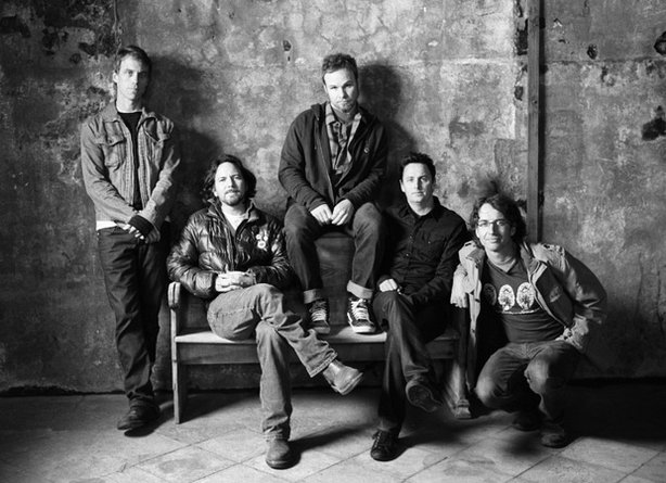 Pearl Jam (l to r): Matt Cameron, Eddie Vedder, Jeff Ament, Mike McCready, and Stone Gossard.