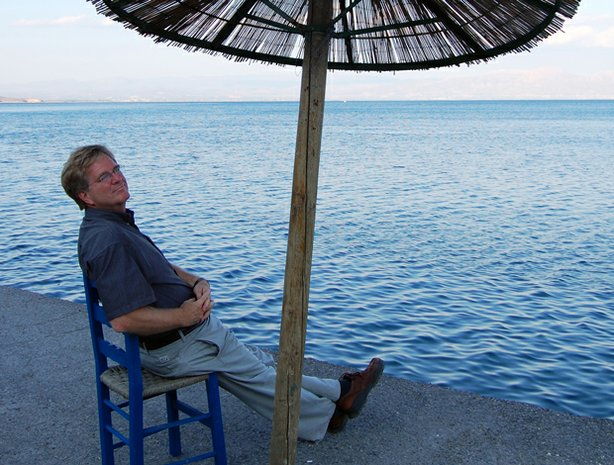Rick Steves, enjoying the shade on Greece&#39;s Peloponnesian Peninsula, shares more of the best of Europe.