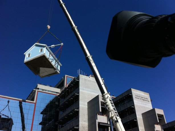 Ucsd S Stuart Collection Features House Hoisted 7 Stories