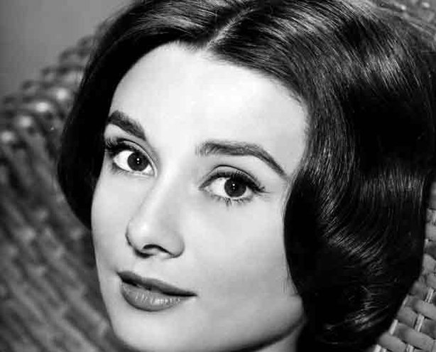"Audrey Hepburn, studio publicity portrait for film ""Love in the Afternoon."""