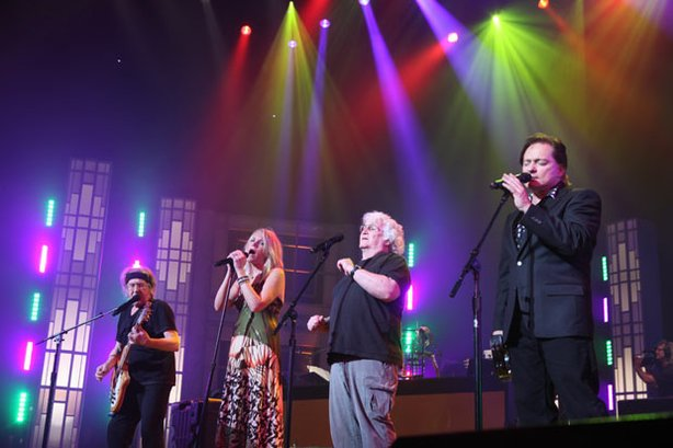 "San Francisco supergroup Jefferson Starship, originally known as Jefferson Airplane, offer their era-defining anthem ""Somebody To Love"" and ""White Rabbit"" in ""60s Pop, Rock & Soul."" Pictured left to right are Paul Kantner, Cathy Richardson, David Freiberg and Marty Balin."