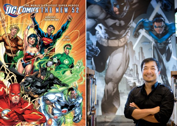 The DC Comics massive reboot of its universe, The New 52, and co-publisher/artist Jim Lee.
