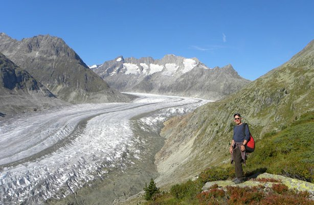 Award-winning travel journalist and author Joseph Rosendo crosses the Swiss Alps and visits the UNESCO heritage Aletsch Glacier (pictured).