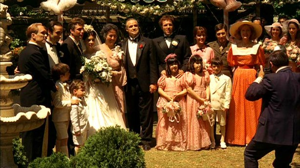 "The Corleone Family in Francis Ford Coppola's ""The Godfather"" screening tonight at 7pm at the Reading Clairemont Town Square Cinemas."