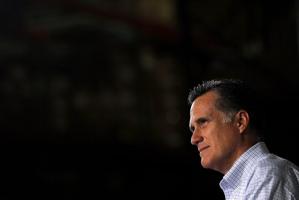 Republican presidential candidate, former Massachusetts Gov. Mitt Romney attends a town hall style meeting at Moore Oil on April 2, 2012 in Milwaukee, Wisconsin.