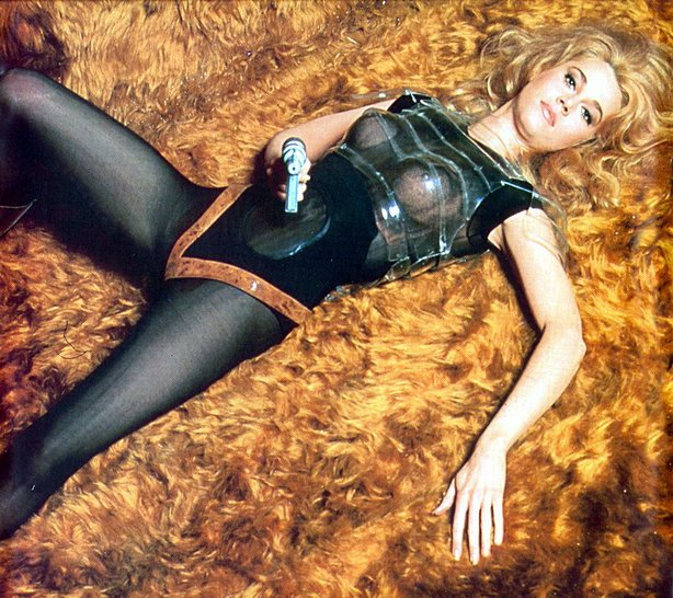 "Jane Fonda as space adventurer ""Babarella"" screening as part of FilmOut's Super Sci-Fi Saturday."