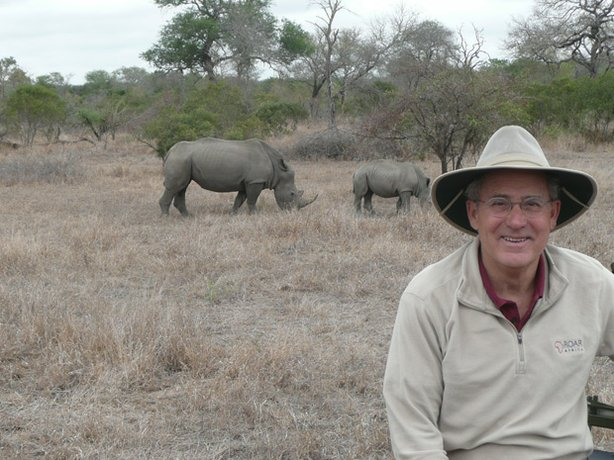 Joseph Rosendo gets an elephant-sized helping of the African wild on safari at the Lion Sands Private Game Reserve adjacent to South Africas famed Kruger National Park where he encounters black rhinoceros. 