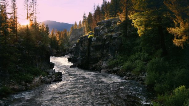 Sunset on Middle Fork of the Salmon River.