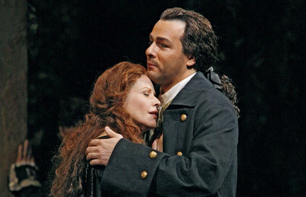 "Renee Fleming in the title role and Andreas Scholl as Bertarido in Handel's ""Rodelinda."""