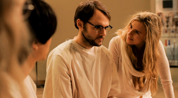 "Brit Marling and Christopher Denham star in ""Sound of My Voice."""