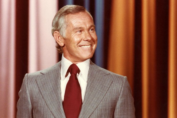 Johnny Carson on &quot;The Tonight Show&quot; set.