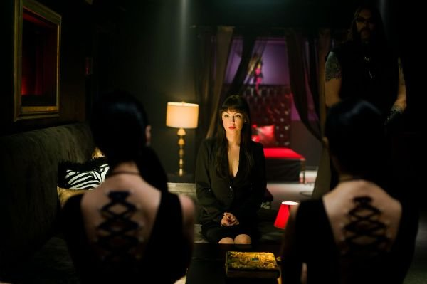 Katharine Isabelle in the Soskas&#39; &quot;American Mary&quot; that just screened at the Cannes Market.