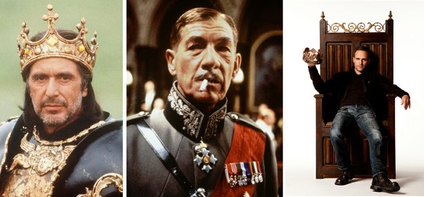Al Pacino, Ian McKellan, and Jay Whittaker, three interpretations of Shakespeare&#39;s Richard III.