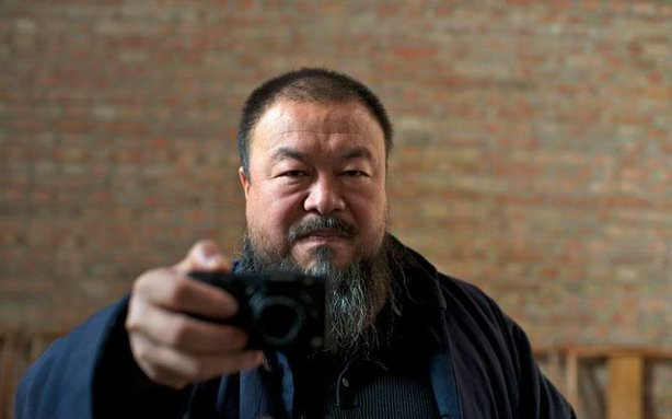 "Ai Weiwei in the documentary ""Ai Weiwei: Never Sorry."""