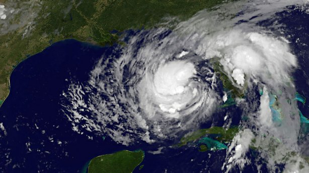 This August 27, 2012 GOES-East satellite image released by NOAA shows Tropical Storm Isaac at 11:10 UTC. The storm took aim at Louisiana and other Gulf states Monday, prompting them to declare states of emergency almost seven years after Hurricane Katrina devastated New Orleans.