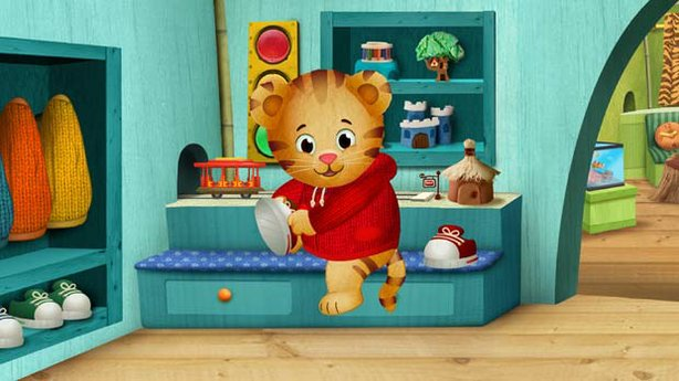 DANIEL TIGER'S NEIGHBORHOOD, the first TV from the Fred Rogers Company since MISTER ROGERS' NEIGHBORHOOD, premieres fall 2012 on PBS KIDS. The series stars 4-year-old Daniel Tiger (pictured), son of the original program's Daniel Striped Tiger, who invites young viewers into his world, giving them a kid's eye view of his life.