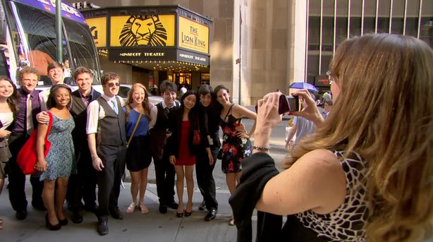 "A still from the new PBS documentary series ""Broadway or Bust,"" which tracks the real life stories of America's top high school musical performers, vying in the ultimate competition to find the nation's best young theater stars."