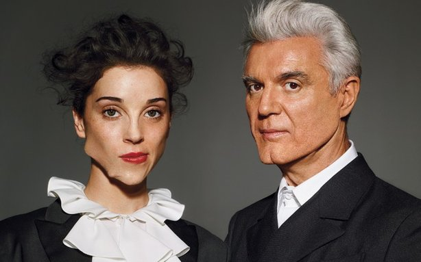 Musicians St. Vincent and David Byrne are touring in support of their first collaborative album, &quot;Love This Giant&quot; released in September 2012.