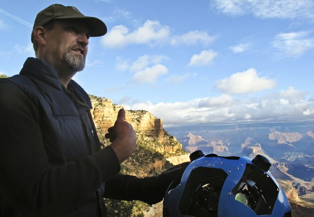 Before Steve Silverman helped Google build its new Trekker, he built cameras for NASA to photograph the surface of Mars. Silverman says the Trekker is built to survive in intense conditions. It will boot up at 10 below zero Centigrade or at 110 Fahrenheit. It will even work after being fully submerged in water.
