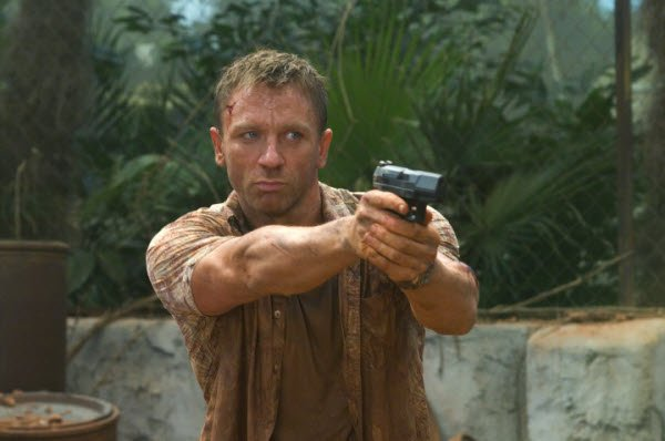 "Daniel Craig as the new and revitalized James Bond in ""Casino Royale."""
