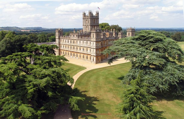 Highclere castle, home to the Canarvon family for the last 300 years.
