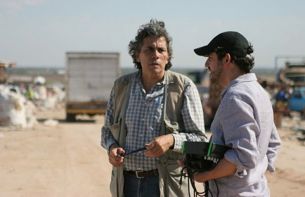 Zeta journalist Sergio Haro and Director Bernardo Ruiz.