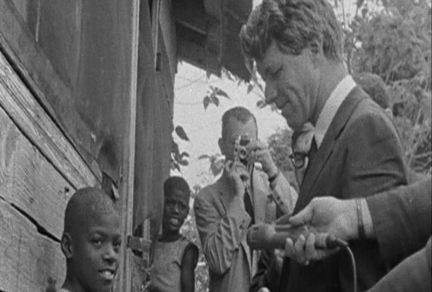 Robert F. Kennedy makes an appearance in an African-American neighborhood in Indianapolis on the night of Dr. Martin Luther King's murder in 1968.