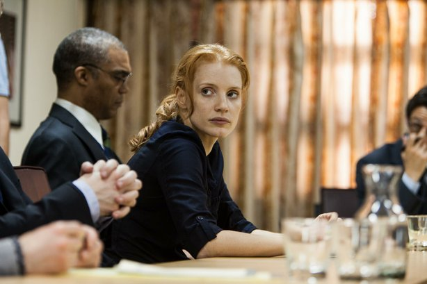 "Jessica Chastain as CIA agent Maya in ""Zero Dark Thirty."""
