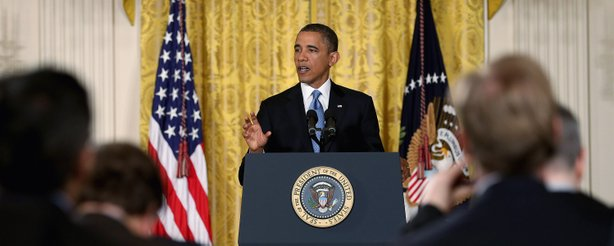 U.S. President Barack Obama speaks during a news conference in the East Room of the White House January 14, 2013 in Washington, DC.