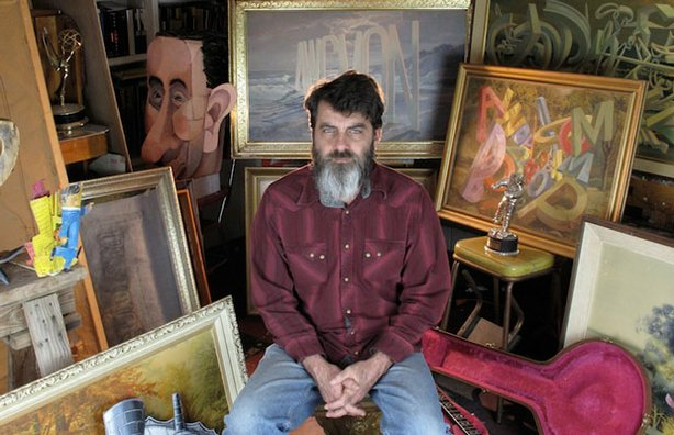 Wayne White in his studio.