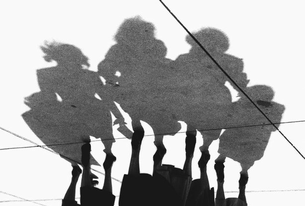 "Shadows by Marvin Newman, a photo from the Photo League featured in the documentary ""Ordinary Miracles: The Photo League's New York."""