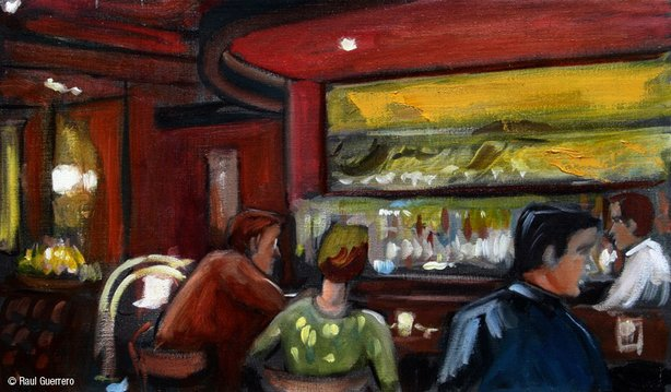 Artist Raul Guerrero's rendering of The Whaling Bar in 2007.