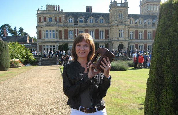 ANTIQUES ROADSHOW presenter Fiona Bruce at Somerleyton Hall.