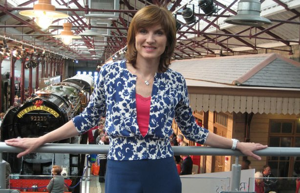 ANTIQUES ROADSHOW presenter Fiona Bruce at the Steam Museum, Swindon.
