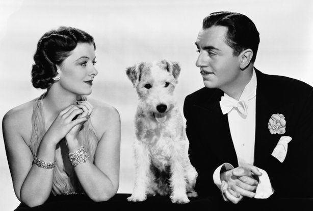 "Myrna Loy, Asta, and William Powell are perfection in ""The Thin Man."""