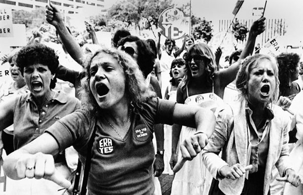 Equal Rights Amendment supporters voice their disapproval of the 22-16 vote against the E.R.A. in the Florida Senate. June 21, 1982.