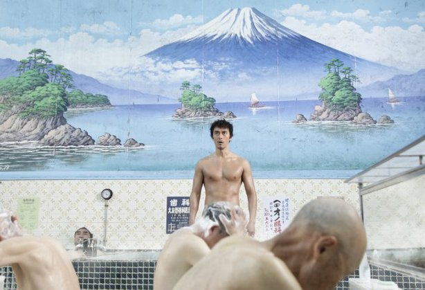 "Hiroshi Abe (center) is a time-traveling Roman in ""Thermae Romae."""
