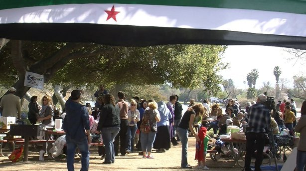 More than 100 people attended a picnic and prayer event at Santee Lakes, organized by the San Diego chapter of the Syrian American Council on March 17, 2013.