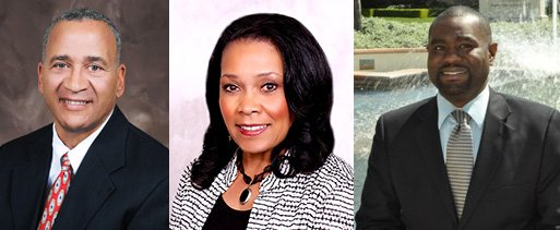 Barry Pollard, Myrtle Cole and Dwayne Crenshaw, three of the candidates for San Diego City Council District 4.