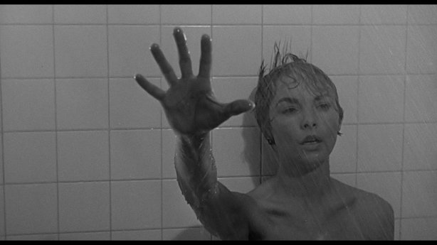 "Janet Leigh in the famous shower scene from ""Psycho."""
