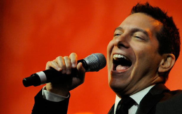 "Michael Feinstein performs with his big band during PBS' ""Michael Feinstein's American Songbook"" session at the TCA Summer Press Tour in Los Angeles on August 4, 2010."