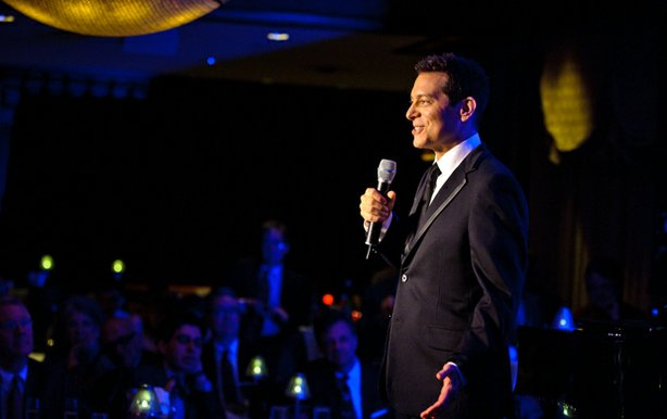 "Michael Feinstein performs during a taping of the PBS series ""Michael Feinstein's American Songbook."""
