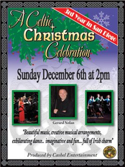 "Promotional graphic for ""A Celtic Christmas Celebration"" on Sunday, December 6 at 2 p.m. at the Birch North Park Theatre. (presented by Cashel Entertainment)"