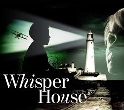 Promotional graphic for &quot;Whisper House&quot; with performances January 13-February 21, 2010 at the Old Globe Theatre.  The Old Globe Theatre