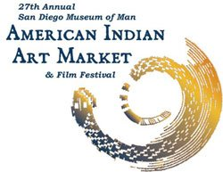 Graphic logo for the 27th Annual American Indian Art Market, and 1st Annual American Indian Film Festival at the San Diego Museum of Man, May 15-16, 2010.
