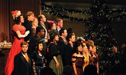 The cast of &quot;An American Christmas.&quot; Photo by Ken Jacques. 