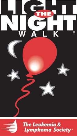 Graphic logo for the Leukemia &amp; Lymphoma Society's annual Light the Night Walk.