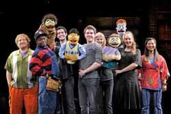 "Cast of award-winning Broadway musical, ""Avenue Q."""
