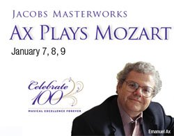 Graphic image for Emanuel Ax's Mozart performance.